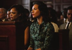 "From left, Tessa Thompson plays Diane Nash and Carmen Ejogo plays Coretta Scott King in ""Selma."""