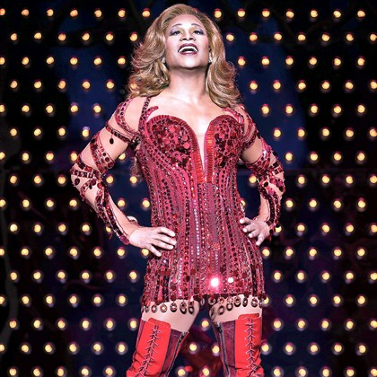 "Billy Porter in his Tony Award-winning role as Lola, the stylish drag queen of ""Kinky Boots."""
