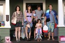 "HBO premieres ""Togetherness,"" starring Melanie Lynskey, left, Amanda Peet, Mark Duplass, Abby Ryder Fortson and Steve Zissis, Sunday."