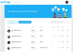 The dashboard for Duolingo for Schools, new software developed by Shadyside-based Duolingo that will allow teachers to check students' work, evaluate learning styles and adapt curriculums to fit student needs.