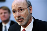 "Asked why he turned to Facebook, Gov. Tom Wolf said: ""I think in a democracy, you should look for any possible way you can interact with the people who hired you."""