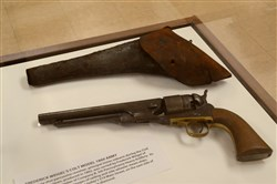 The Heinz History Center's Civil War exhibit has been touring the state and will make a stop in Harmony. There it will be augmented by a display dealing with how the conflict affected and was affected by the people of Harmony. This is a Colt Model 1860 Army owned by Frederick Weigel.