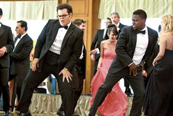 "Doug (Josh Gad) and Jimmy (Kevin Hart) in ""The Wedding Ringer."""