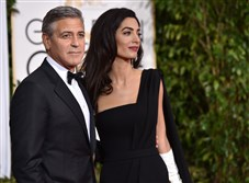 George and Amal Clooney were the couple to watch at the Golden Globes.