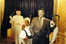 Visitors can pose for photos with Lawrence Welk at the Welk Museum in Escondido, Calif.