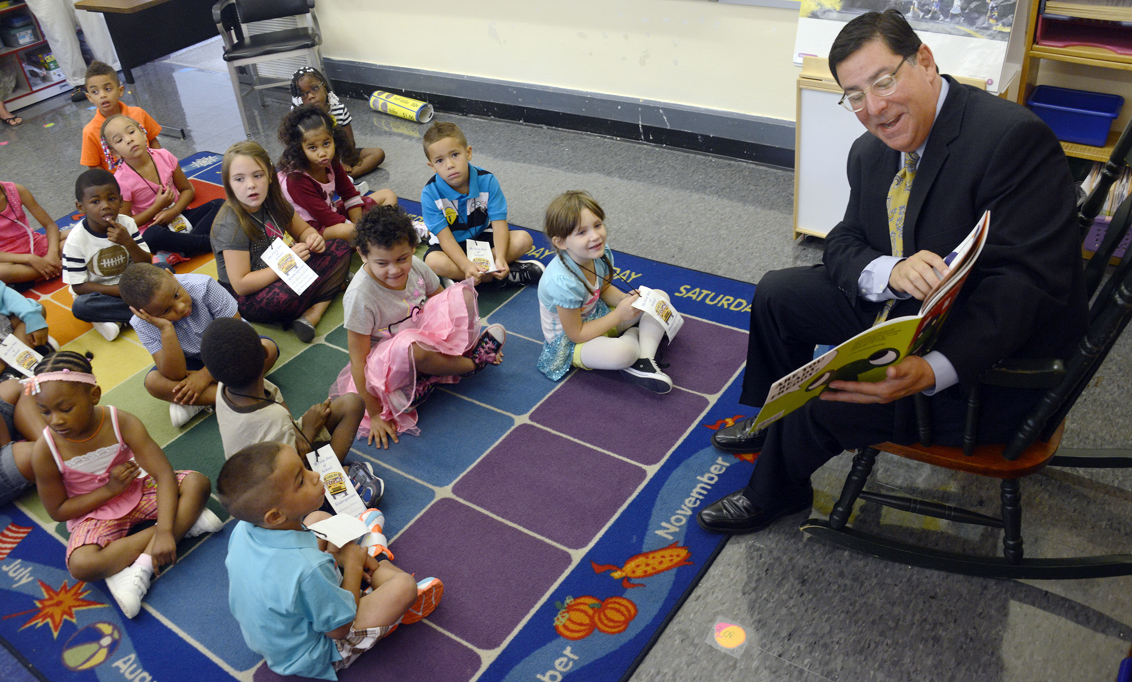 ... first day of school in August at Pittsburgh Langley K-8 in Sheriden