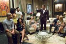 "Lucious (Terrence Howard, third from right) toasts his family in the ""Devil Quotes Scripture"" episode of ""Empire"" on Fox."