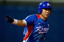Jung-ho Kang hit .356 with 40 home runs and 117 RBI in 117 games last year with the Korean Baseball Organization's Nexen Heroes.