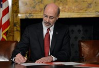 Gov. Tom Wolf signed an executive order banning gifts for employees of the executive branch earlier this month.