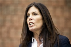 Attorney General Kathleen Kane speaks at a news conference earlier this year in Philadelphia.
