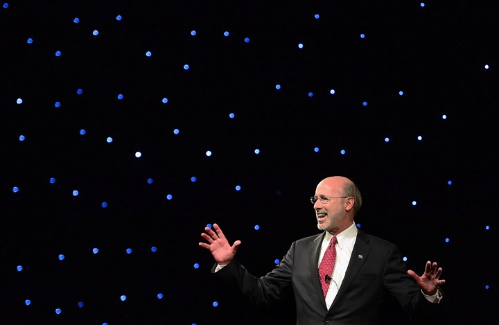20150120MWHwolfLocal29-1 Gov. Tom Wolf addresses the thousands of supporters gathered for his Inaugural Celebration at the Hershey Lodge in Hershey, Pa.