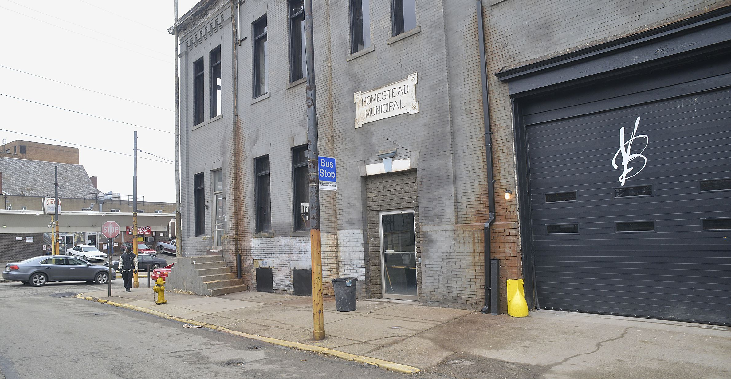 20150122lrvoodoofood14-13 Exterior at Amity and Ninth Ave where the new pub is being prepped to open in the old Homestead municipal building by Meadville's Voodoo Brewery.