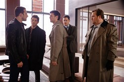 "Starring in ""The Loft"" are, from left:  Matthias Schoenarts, James Marsden, Karl Urban, Wentworth Miller and Eric Stonestreet."
