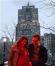 Moira and Andrew Brennen of Highland Park pose for a portrait in Market Square in Downtown Pittsburgh.