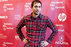 "Writer Jesse Andrews, a Schenley High School graduate, at the premiere of ""Me & Earl & the Dying Girl"" at the Sundance Film Festival."