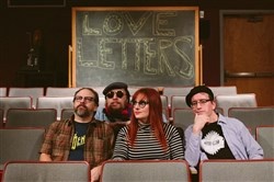 Love Letters: From left, Buck Knauer, Mike Prosser, Erin Dawes, Mike Shanley.