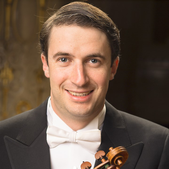 20150128hoBendixBalgleymag Concertmaster Noah Bendix-Balgley soloed in a pieceby Khachaturian in Friday night's Pittsburgh Symphony concert at Heinz Hall.