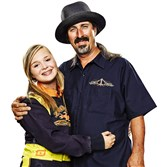 "Savannah Fitzgerald and her father are part of a new TruTV series, ""Kart Life."" They'll be featured Wednesday."