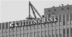 Citizens Bank sign on 525 William Penn Place in 2003.