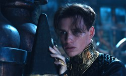 "Eddie Redmayne as Balem Abrasax in ""Jupiter Ascending."""