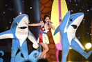 Singer Katy Perry performs during the New England Patriots and the Seattle Seahawks Super Bowl XLIX halftime on February 1, 2015 at the at University of Phoenix Stadium in Glendale.