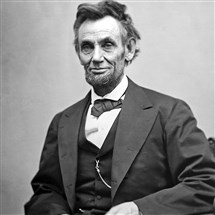 This is one of the last photos taken of President Abraham Lincoln.