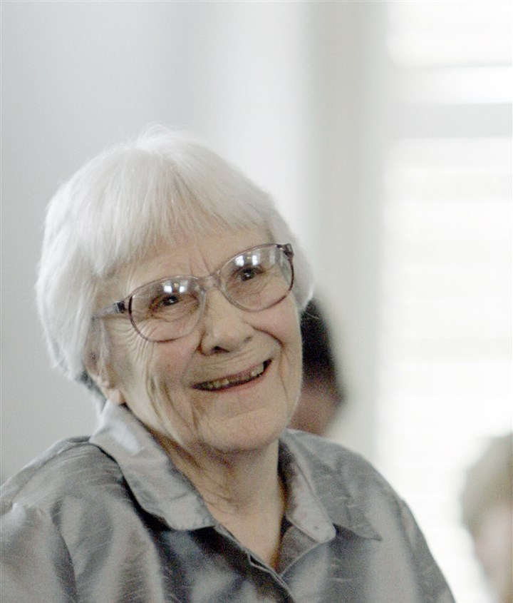 "Harper Lee ""To Kill A Mockingbird"" author Harper Lee smiles before receiving the 2007 Presidential Medal of Freedom at the White House in November 2007."