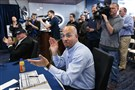 Penn State head coach James Franklin applauds on national signing day Wednesday in University Park, Pa.