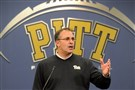 Pitt football head coach Pat Narduzzi discusses his recruiting class Wednesday at the team's South Side practice facility.