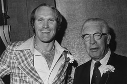 From the archives: The Post-Gazette's 1975 Dapper Dan Award winner, Terry Bradshaw, gets together with Steelers owner Art Rooney.