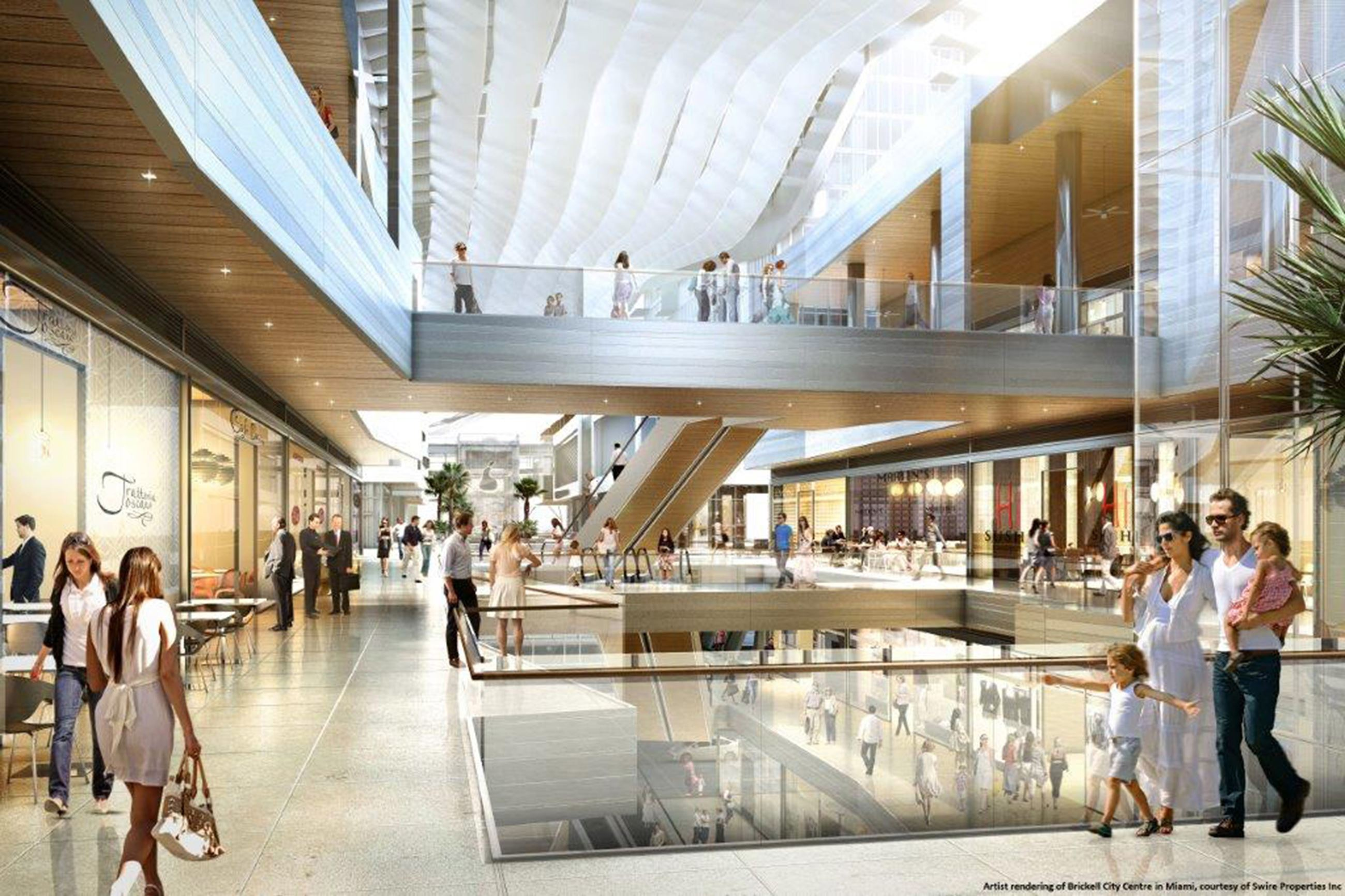 climate ribbon' will cool shoppers at miami-area shopping center