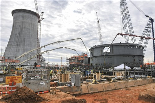 Concrete being placed in the auxiliary building in January 2015 at the Vogtle Electric Power Station, where Westinghouse's construction of two new nuclear reactors is now more than three years behind schedule.
