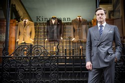 "Colin Firth stars as Harry, an impeccably suave spy, in ""Kingsman: The Secret Service."""