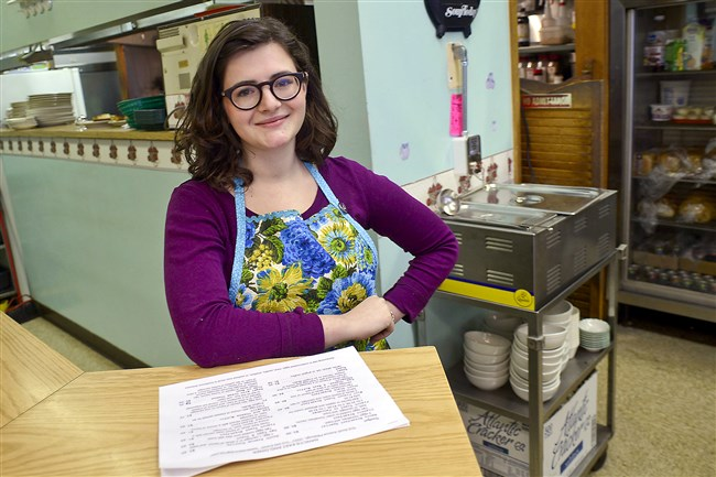Markie Maraugha, the new owner of the  reopened Nancy's East End Diner on South Avenue in Wilkinsburg.