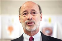 Gov. Tom Wolf delivered his budget remarks today in Harrisburg.