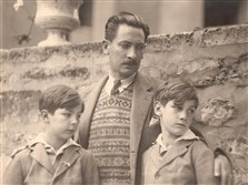 This Man Ray photograph shows Leopold Gould Seyffert with his two sons, Peter, at left, and Richard, right.