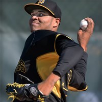 Pirates reliever Stolmy Pimentel is one of several players vying for a spot in the bullpen.
