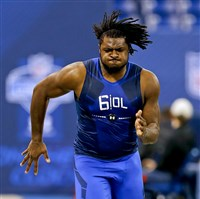 Pitt offensive lineman T.J. Clemmings was selected in the fourth round of the draft by the Minnesota Vikings.