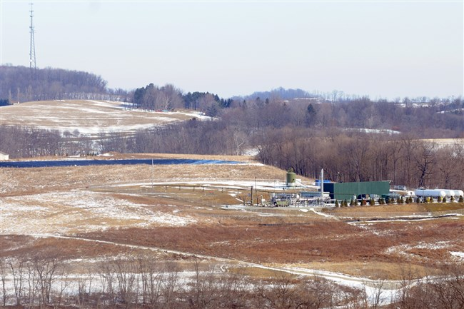 A Range Resources Marcellus Shale site in Hickory Township.