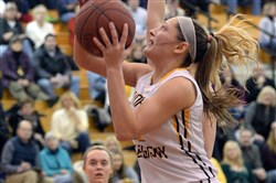 North Allegheny's Abby Gonzales drives to the basket against Baldwin in a game earlier this season.