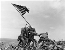 One of the most iconic photos in American history -- Joe Rosenthal's photo of soldiers raising the U.S. flag atop Mount Suribachi on the tiny island of Iwo Jima on Feb. 23, 1945 -- is being reviewed for its historical accuracy.