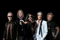 "Aerosmith -- Brad Whitford, Tom Hamilton, Steven Tyler, Joe Perry and Joey Kramer -- can be seen at Cinemark theaters tonight in the concert movie ""Aerosmith Rocks Donington 2014,"" filmed last year at the Download Festival in England."