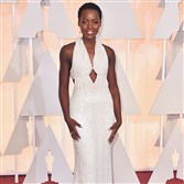 Lupita Nyong'o at the Oscars last Sunday in Los Angeles. The $150,000 pearl-adorned dress that she wore has been reported stolen.