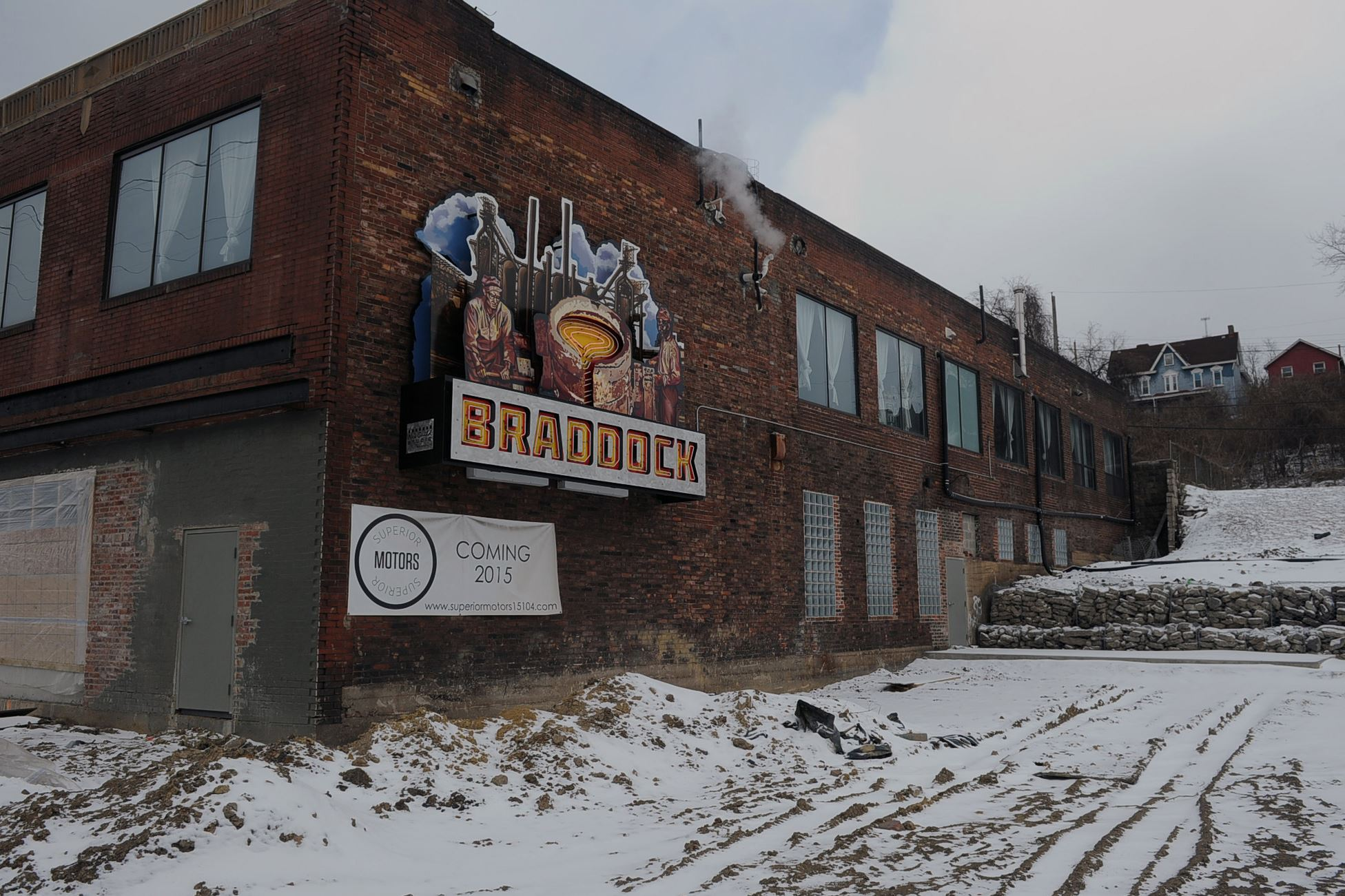 Kevin Sousa Braddock Superior Motors The exterior of Superior Motors, a restaurant slated to open in June in Braddock.