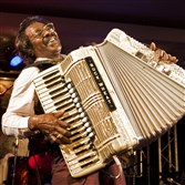 Buckwheat Zydeco performs at Club Cafe Friday night.