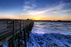 A chilly, windy sunset at the Flagler Beach, Fla., pier early last month.