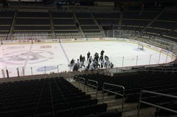 "The Penguins will have limited practice time in March and took advantage of what coach Mike Johnston called ""quality practice time"" on Tuesday."