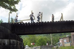 In 2012, volunteers decked and railed a trestle in New Bethlehem on the Redbank Valley Trail.