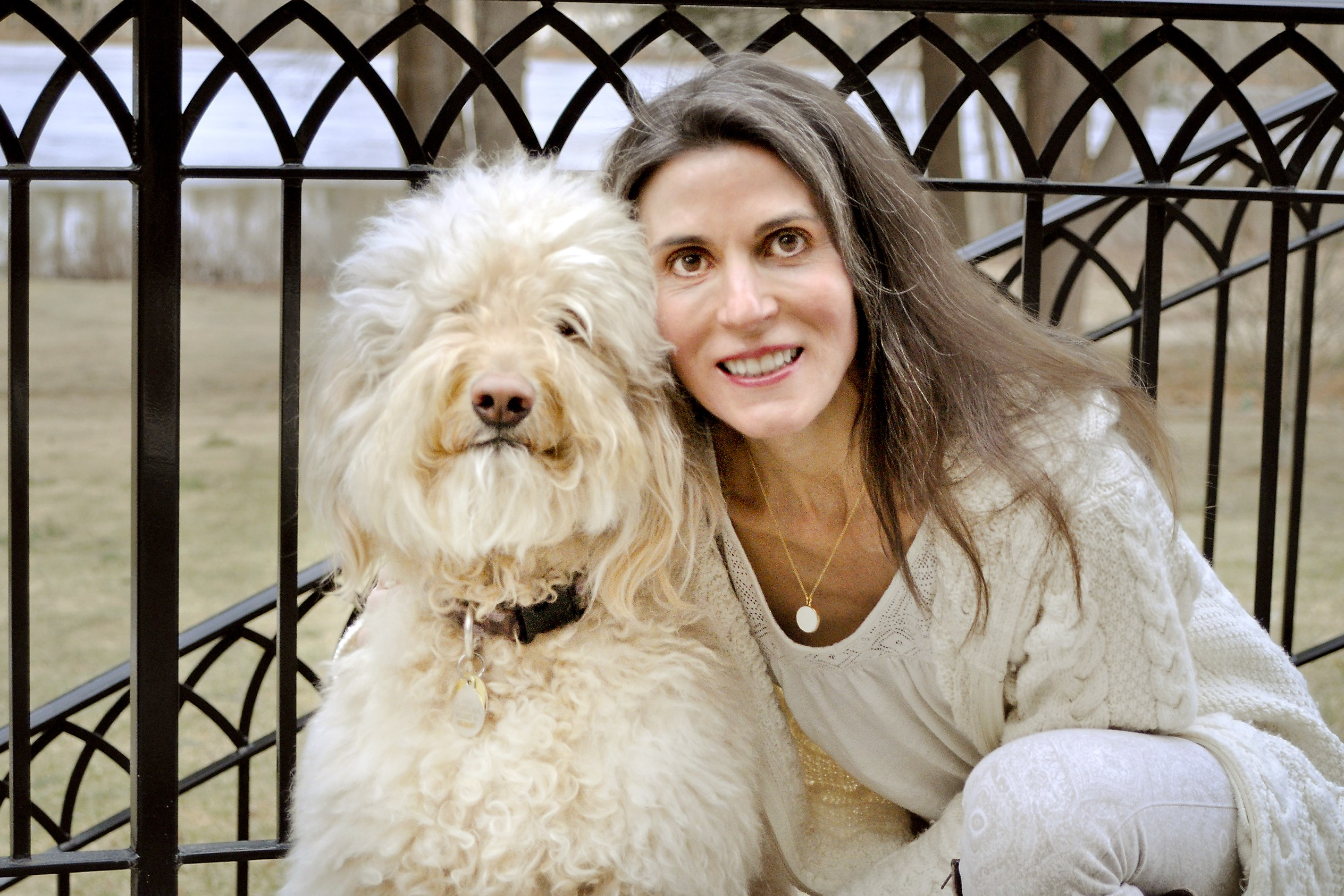 Dr. Elizabeth Pegg Frates and her dog, Reesee. Dog owners are healthier and live longer than people who don't have dogs, she says in a new publication from Harvard Medical School.