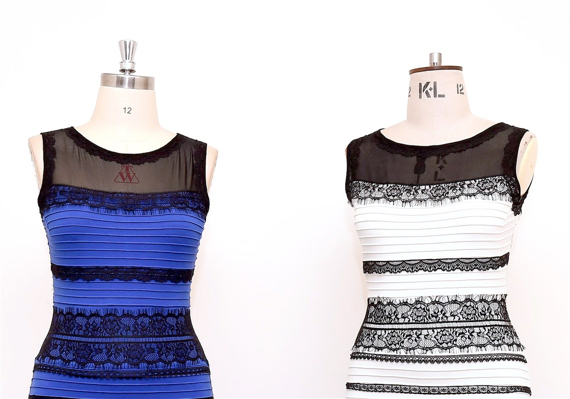 The dress controversy - The Two Tone Dress Left Alongside An Ivory And Black Version Made